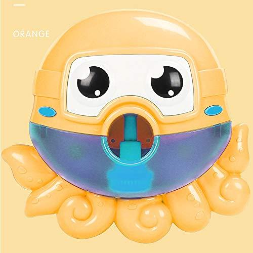 SSBH Octopus Bubble Machine, Spucke Bubble Octopus Toy Eingebaute Musik, Säuglingsbadewanne Kinder baden Babyparty Wasserspielzeug mit Kinderreim Für Säuglingsbaby Kinder Kinder Happy Tub Time