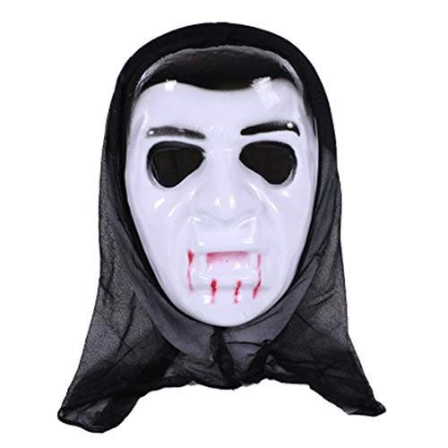 Kongqiabona Funny Halloween Fancy Dress Adult Costume Accessory Adult Halloween Horror Face Mask Party Cosplay Full Face ()