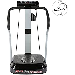 Pinty Plataforma Vibratoria para Fitness Máquina para Ejercicios Musculares Vibradores para Mujer con Pantalla LED 99 Niveles de Velocidad, Motor de 2000W