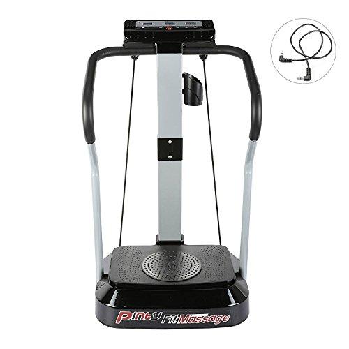 Pinty Plataforma Vibratoria para Fitness Máquina de Masaje para Ejercicios Musculares Pérdida de Peso Cardio con Pantalla LED 99 Niveles de Velocidad, Motor de 2000W