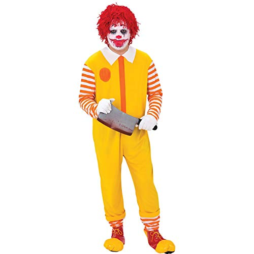 Ronald Mcdonald Kostüm Clown - Happy Clown Jumpsuit - Horror Clown Ronald McDonald Haloween Kostüm Herren