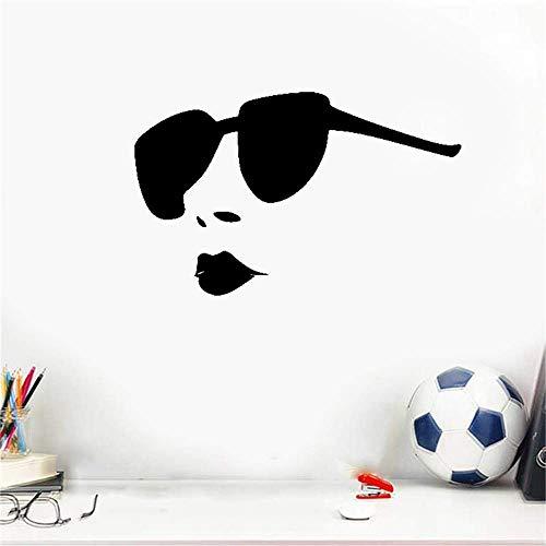 Wandtattoo Wohnzimmer Wandtattoo Schlafzimmer Sexy hot girl volle lippen großen sonnenbrillen salon