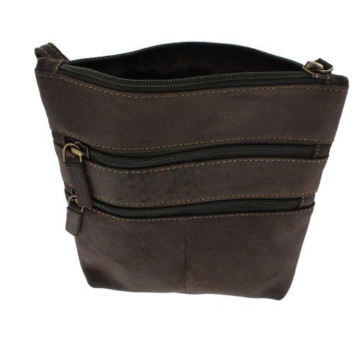 Visconti Leder Handtasche 18606 Öl so Mud