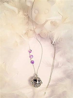 Bola de grossesse Arbre de Vie - perles semi précieuse Jade violet