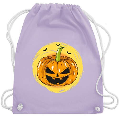 n Kürbis Gesicht - Unisize - Pastell Lila - WM110 - Turnbeutel & Gym Bag ()