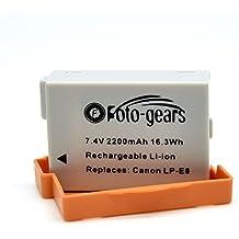 2200mAh LP-E8 Bater¨ªa de repuesto para Canon LP-E8 y Canon EOS 550D, EOS 600D, EOS 700D, EOS Rebel T2i, EOS Rebel T3i, EOS Rebel T4i, EOS Rebel T5i, LP-E8 Bater¨ªas