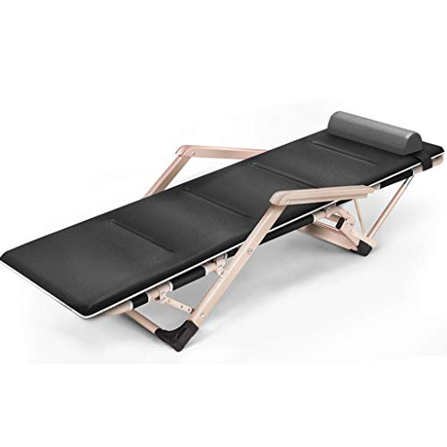 ZEDICN Feldbett Campingbett.Lang178Cm Einstellbar Null Schwerkraft Lounge Stuhl Liegen Für Patio-H