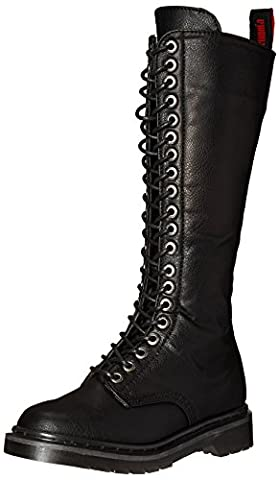 Demonia Women's Riv400/BPU Boot, Black Vegan Leather, 8 M US