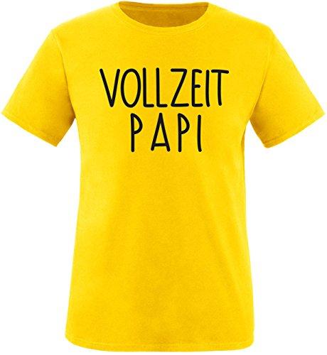 EZYshirt® Vollzeit Papi Herren Rundhals T-Shirt Gelb/Schwarz