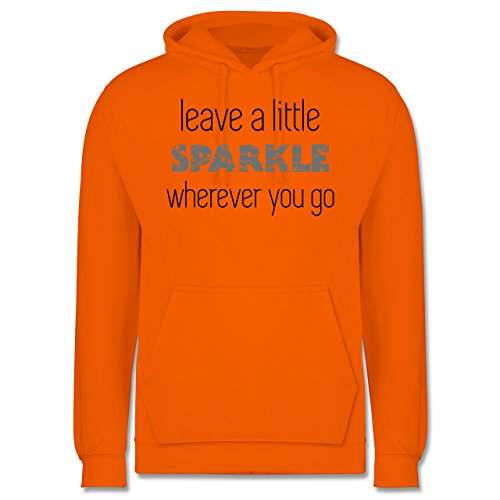 Statement Shirts - Leave a little sparkle wherever you go - Männer Premium Kapuzenpullover / Hoodie Orange