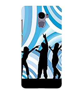 Music Fun Dance 3D Hard Polycarbonate Designer Back Case Cover for Redmi 4 :: Xiaomi 4