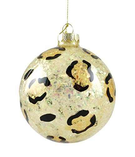 Party Explosions Glaskugel zum Aufhängen, Leopardenmuster Glitter Cheetah Print