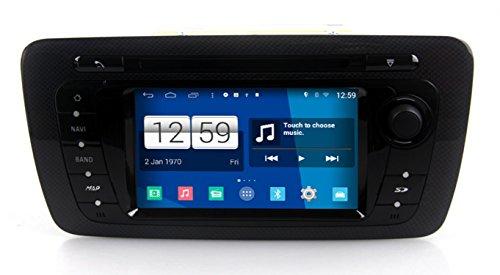 roverone Android Sistema 7pulgadas Doble Din Autoradio GPS para SEAT Ibiza 2009–2015con...