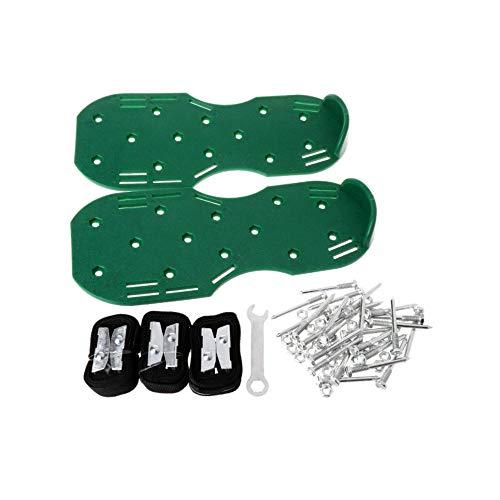 CLCYL Un Paio Scarpe da Prato Aeratore Scarpe Sandali Erba Punte Coltivatore per Unghie Giardino Strumento da Giardino - Verde