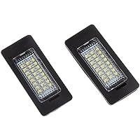 Baoblaze Juego de Luces LED para Matrícula 24-smd Day White para Audi A4 A5 Q5 S5 Tt 2008-2013 Óptica con Aprobación