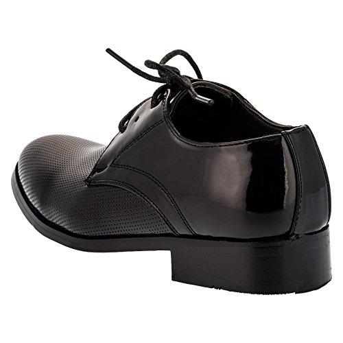 ALIZEA , Chaussures de ville à lacets pour garçon noir Schwarz EU #86sw Schwarz