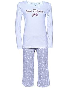Kinder Schlafanzug Zum Träumen Weiss/Beige Pyjama