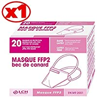 Masque Ffp2 Sans Valve Masque De Protection Respiratoire Blanc Bec De Canard Boîte De 20 - Plm-09b - By Antigua Health Care