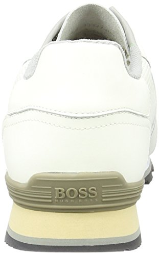 Boss Green Parkour, Sneakers Basses Homme Blanc (White 100)