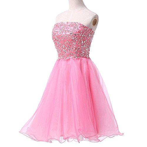 Bridal_Mall - Robe - Trapèze - Sans Manche - Femme Rose - Rose