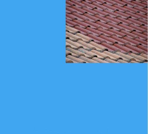 1L Ziegelfarbe Dachfarbe Dachbeschichtung Dachversiegelung in Himmelblau Dachrenovierung Metalldach Blechdach Flachdach Farbe Beschichtung Anstrich Ziegel Dach