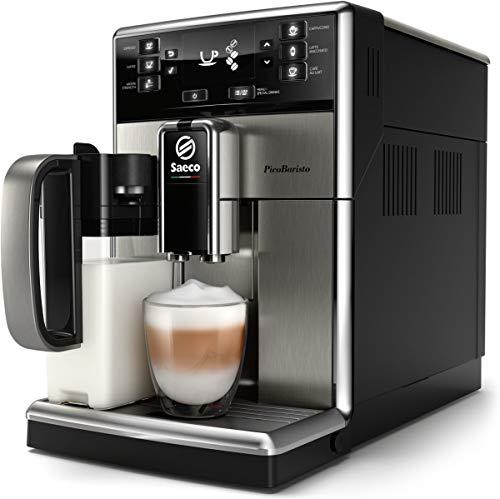 Saeco PicoBaristo SM5473/10 Macchina da Caffè Automatica, 10 Bevande, con Macine in Ceramica, Filtro AquaClean, Caraffa Latte Premium Integrata, Frontale in Acciaio Inox