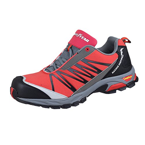 Goodyear GYSHU1500, Herren Sicherheits-Sneakers, 8 UK, Red (Red/Black), 1 (World Cap Industries)