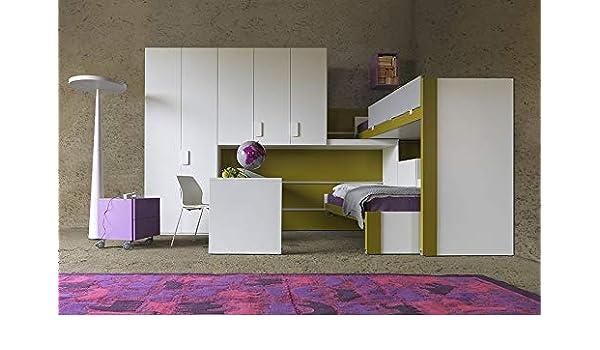 Letti A Castello Scorrevoli Su Boiserie.Dafne Italian Design Cameretta Per Ragazze Letti A Castello