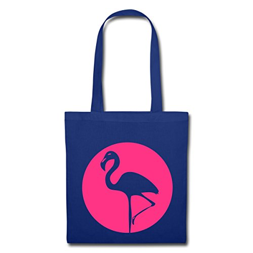 Spreadshirt Flamingo Stoffbeutel Royalblau