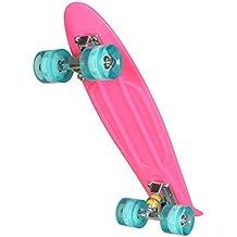 Ancheer Mini-Cruiser-Skateboard 55cm Skateboard mit LED Leuchtrollen