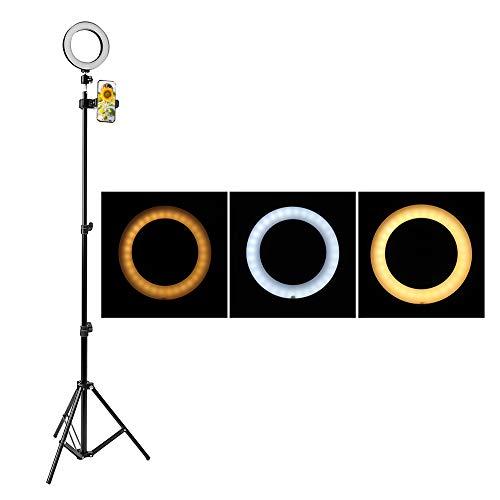 InvocBL Dimmbare Ringfüllleuchte Digital SLR Kamera Beleuchtung Studio LED Foto Lampenstativ -