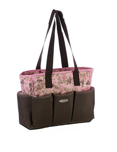 CLD Damen Wickeltasche 2Tragetaschen Floral Kaffee (Baby Gear-marke)