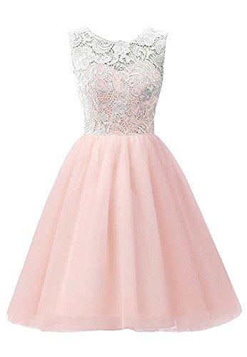 OMZIN Mädchen Kleider Hochzeit Party Festliches Prinzessin Kleid Rosa 11-12 Jahre (12 Jahre Mädchen Für Altes Party-kleid)