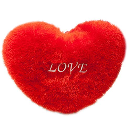 Qingqingr matrimonio creativo regalo di san valentino cuore rosso cuscino ietters ricamato peluche divano imbottito casa 50 * 70 1 pz