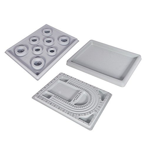 PandaHall Elite Kunststoff Perle Design Boards Set (Bead Design Board)