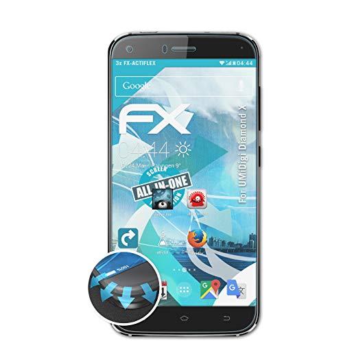atFolix Schutzfolie passend für UMiDigi Diamond X Folie, ultraklare & Flexible FX Bildschirmschutzfolie (3X)