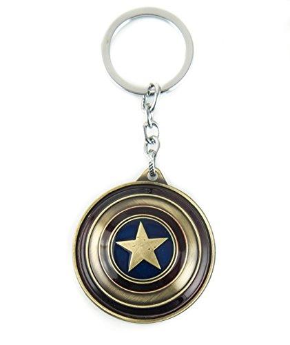 lzy-store Captain America Schild Schlüsselanhänger Superhero Tasche Zubehör(Drehbare Schild) (Copper) (Keychain Flaschenöffner Batman)
