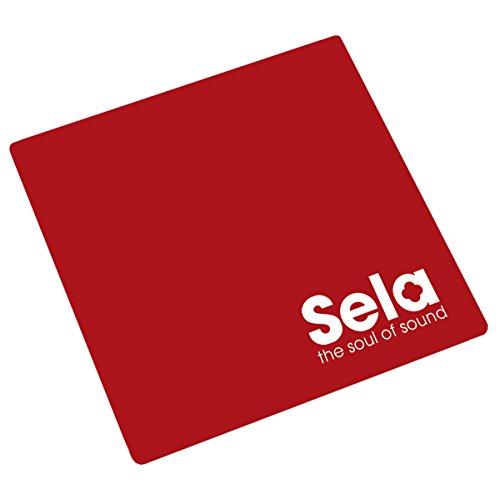 Sela SE 039 Cajon Pad Red, Sitzauflage, Sitzkissen, Polster für Cajons (Maße 26x26 cm), Cajon Zubehör, Anti-Rutsch -