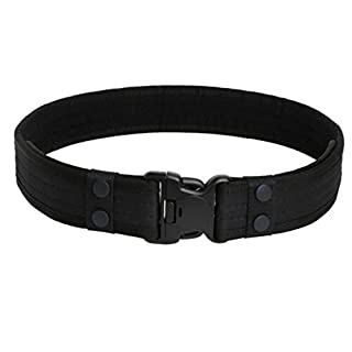 Aquiver Tactical Belt Outdoor Sports Waistband Army Tactical Military Trouser Buckle Belt (Black)