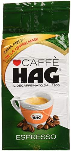 Hag - Caffè Decaffeinato Naturale, Espresso - 4 confezioni da 250 g [1 kg]