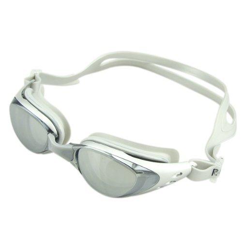 ma-on gafas Natación gafas cómodas marco de 2hebillas de nariz (plata)