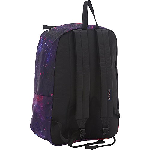 JanSport Unisex Superbreak Schwarz / Pink (Pink Tulip Lots Of Love)