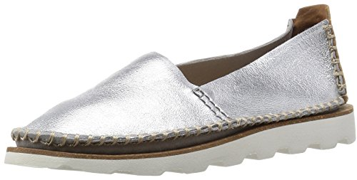 Clarks Damara Chic, Damen Mokassin, Grau (Silver Metallic Leather), 39.5 EU (6 Damen UK)