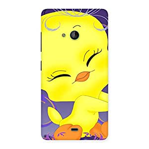 Delighted Yellow Tweet Back Case Cover for Lumia 540