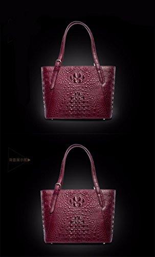 lpkone-Sac à main sac à main motifs peau de crocodile, mode pour femmes Europe sac d'épaule Purple