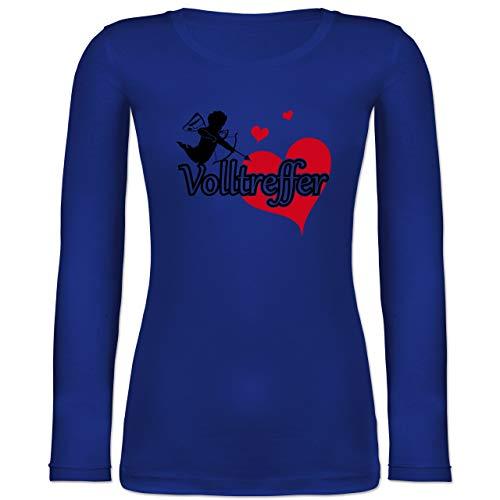 Shirtracer JGA Junggesellinnenabschied - Volltreffer - L - Blau - BCTW071 - Langarmshirt Damen