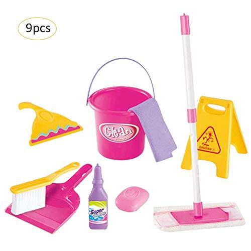 Putzset Kinder:Spielzeug-Putz-Set für Kinder(Spielzeug),9-teilig