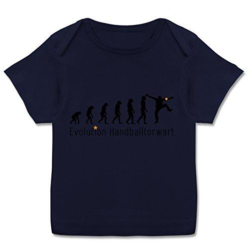 Evolution Baby - Handballtorwart Evolution - 80-86 (18 Monate) - Navy Blau - E110B - Kurzarm Baby-Shirt für Jungen und Mädchen