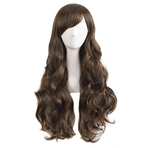 MapofBeauty charmante Frauen lange lockige volle Haar Perücke (hellbraun) -