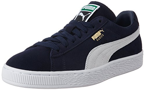 Puma Suede Classic, Unisex Adults Low-Top Trainers, Blue (Peacoat/White 51), 4.5 UK (37.5 EU)